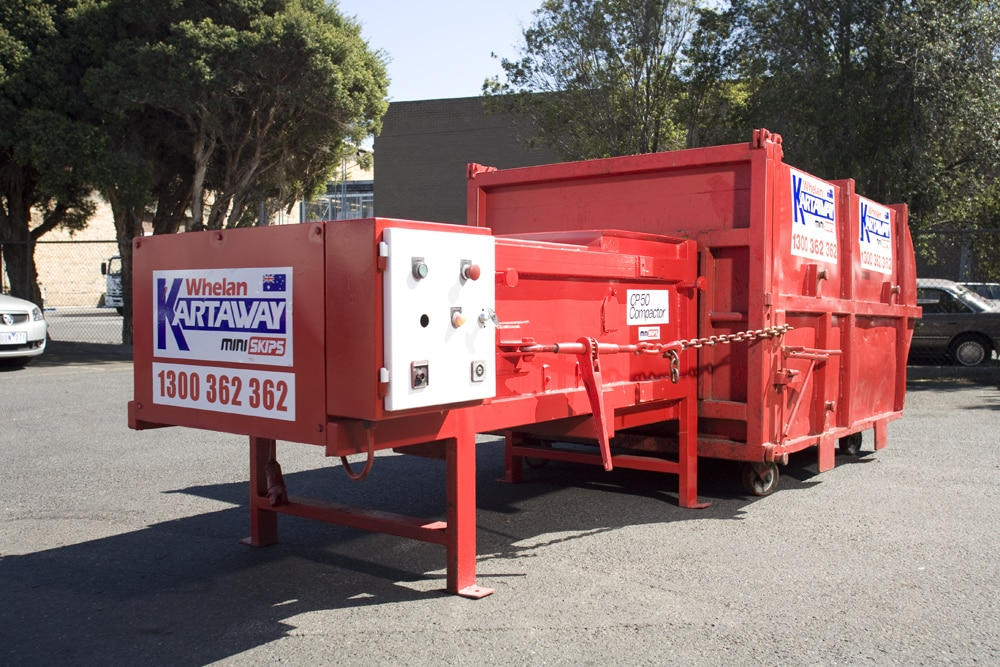 Kartaway Compactor Unit from rear